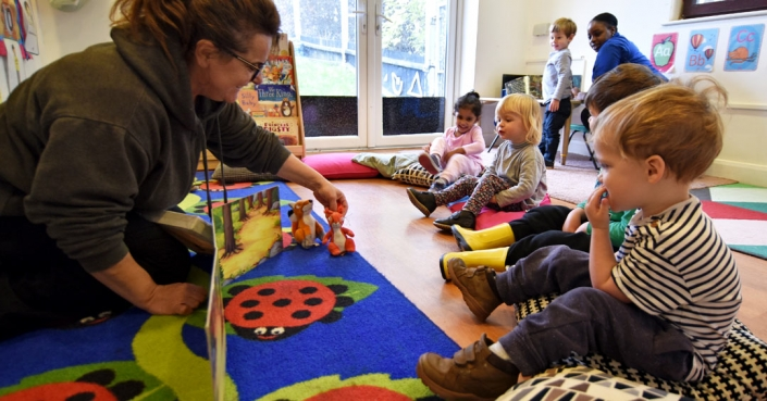 A story comes to life at the pre-school