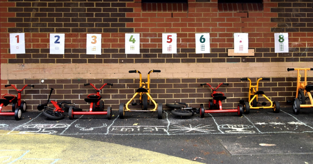 Some of the wonderful outdoor equipment at Treetops Nursery & pre-school