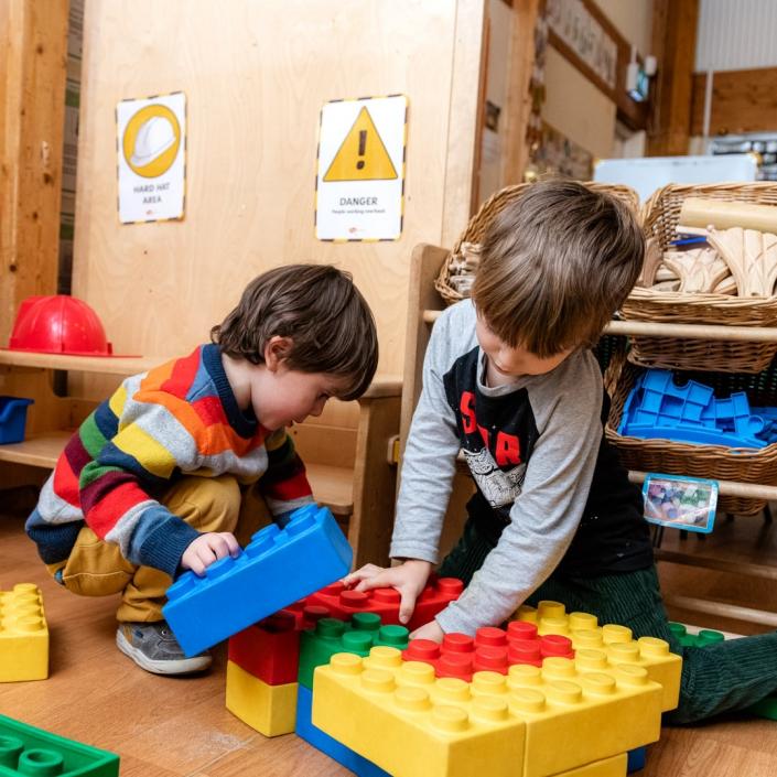 The giant lego blocks are a big hit at the nursery/preschool