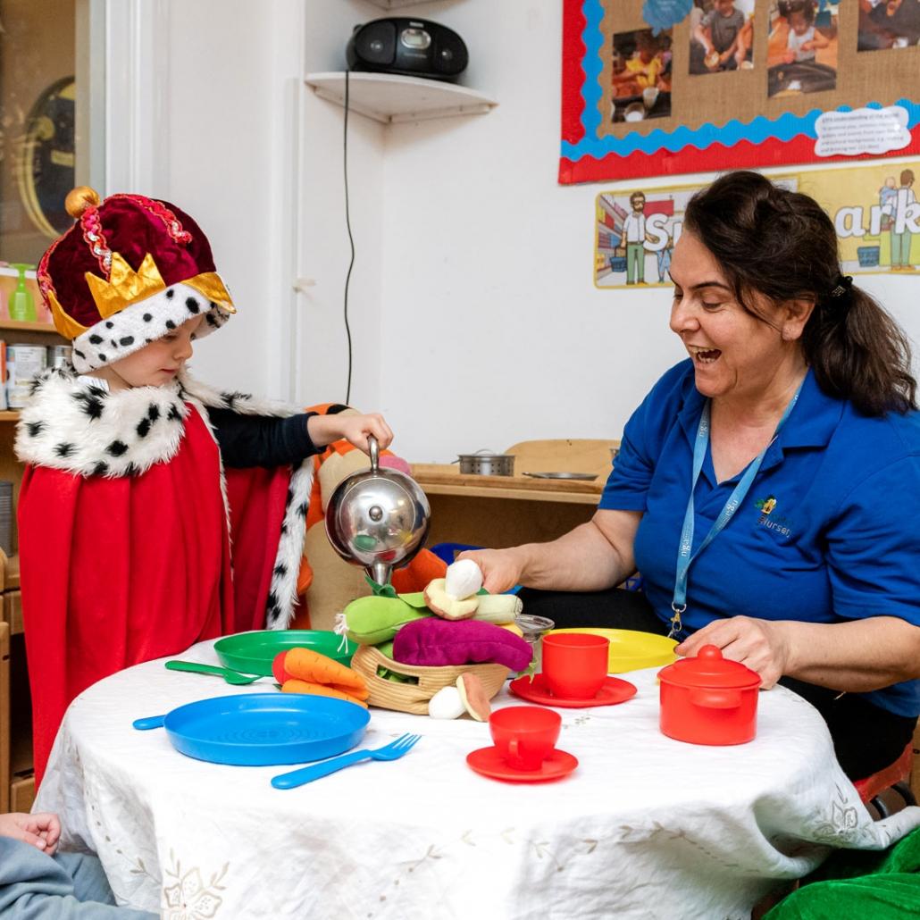 A royal tea party at Treetops Nursery!
