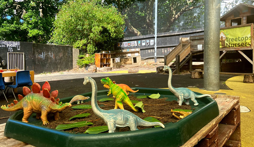 Dinosaurs are a huge hit at the nursery