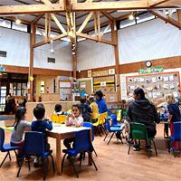 A modern, spacious nursery