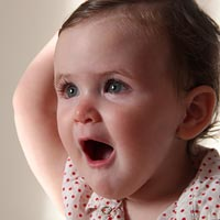 Babies can get tearful when teething