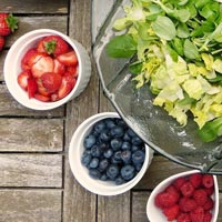 Many fruits and berries are great sources of Vitamin C