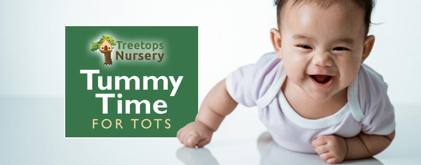 Tummy Time for Tots: a guide for parents of babies including benefits, suggested tummy time activities & more.