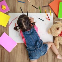 Playing helps children to be more creative and to think differently