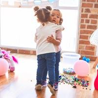 Your child will be more at ease if they know another friendly child starting on the same day.