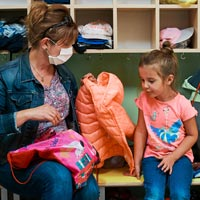 It will help your child if they visit, so they're familiar with where to go, where to hang their coat and so on.